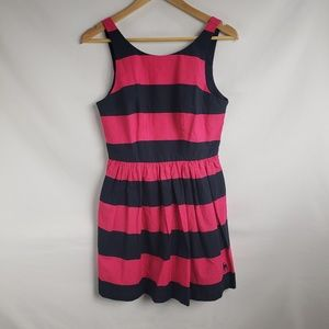 Abercrombie & Fitch Pink Navy Fit & Flare Dress